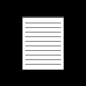 Notes kelnerski klejony bez okładki