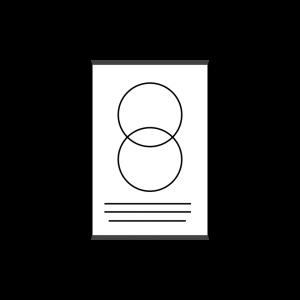 Plakat jednostronny listwowany