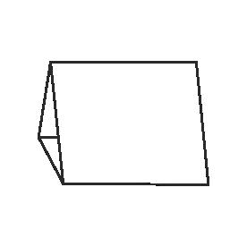 Prezentery trójkątne z zamkiem bezklejowym